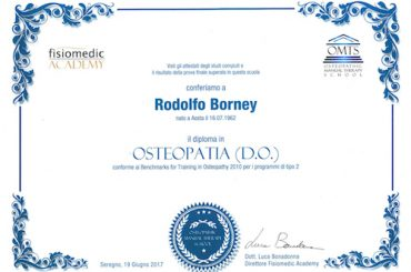 14 – Diploma di osteopatia