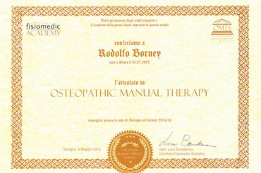 16 – Osteopathic manual therapy